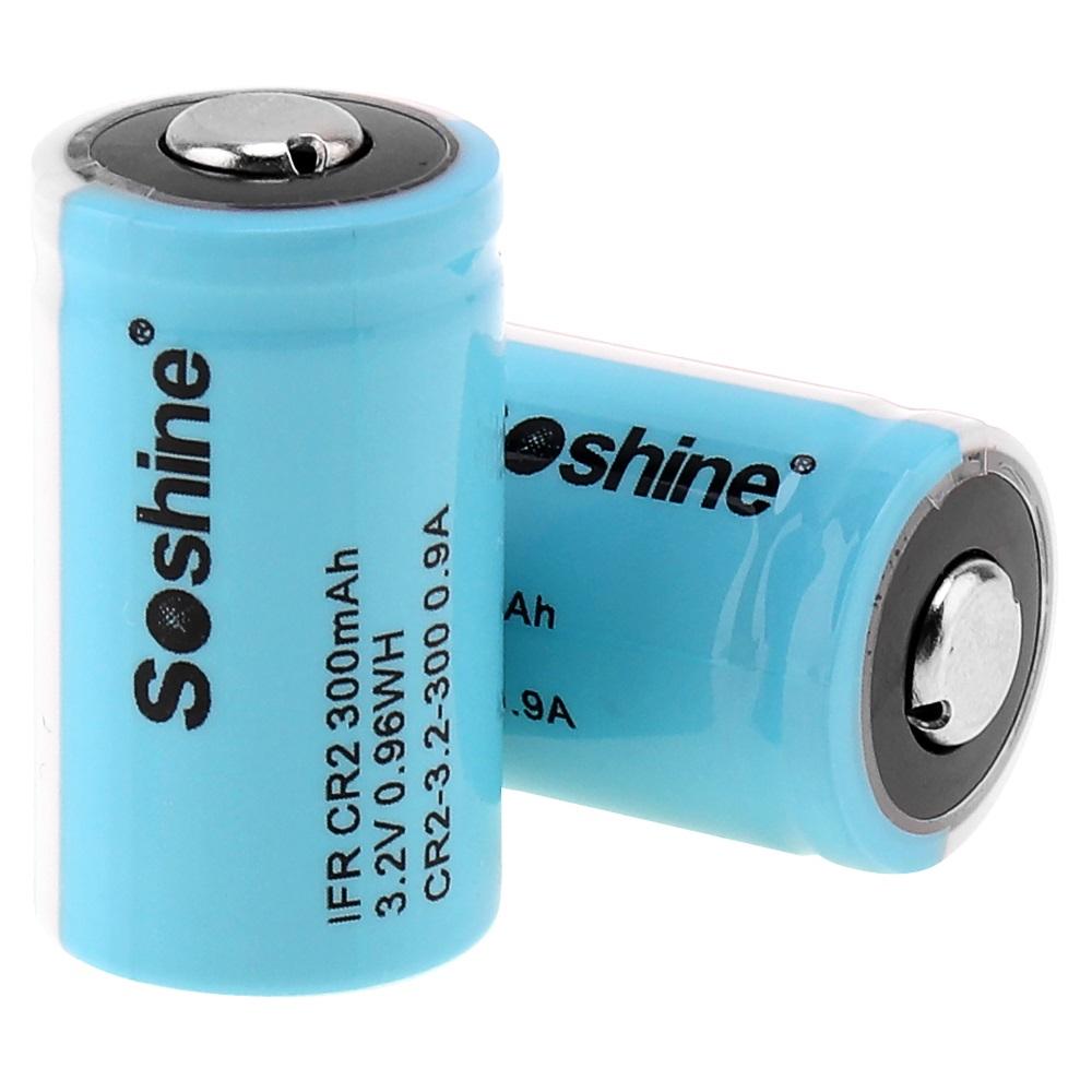 Soshine IFR CR2 nabíjateľná batéria – CR2 3.2V 300mAh LiFePO4