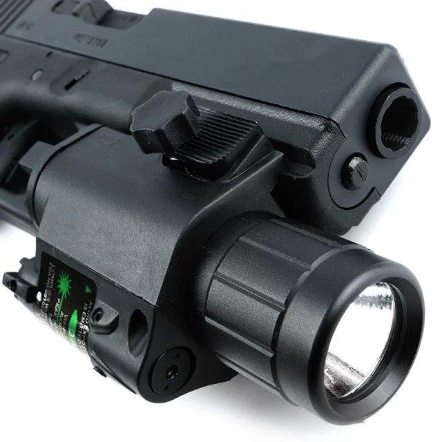 Zelený laserový zameriavač + taktické LED svetlo na GLOCK