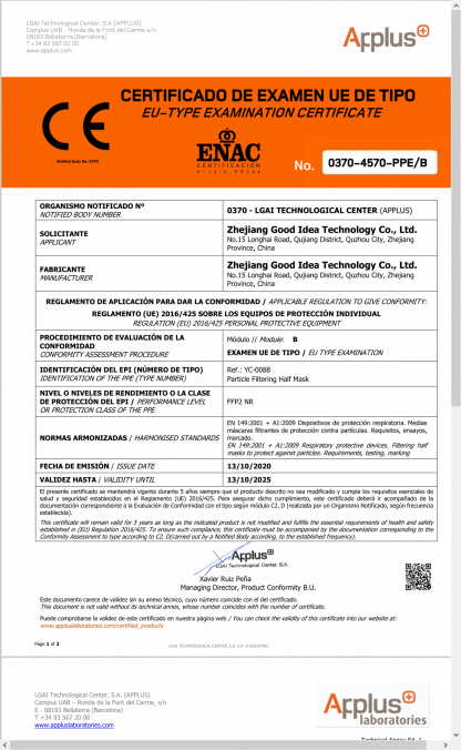 certifikat-respirator-FFP2-YC-0088